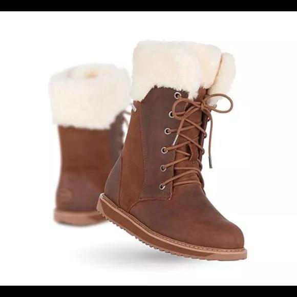210c577cf6a Emu Shoes   New Brown Australia Boot Shoreline Leather Oak   Poshmark